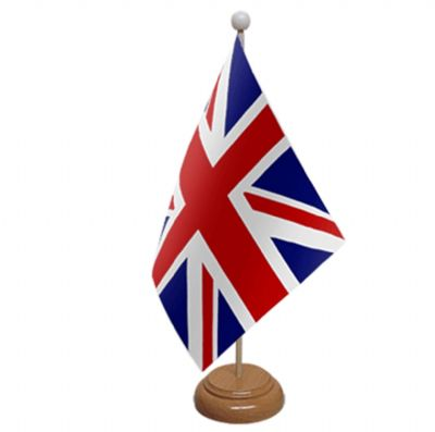 UNION JACK - TABLE FLAG WITH WOODEN BASE